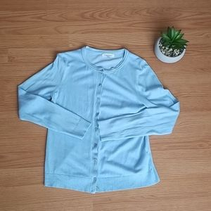 Calvin Klein baby blue cardigan Size Small